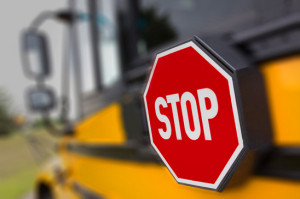 Danger Stop for School Bus before there is truck wreck