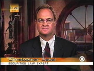 Chris Bebel, Securities Law expert on CBS