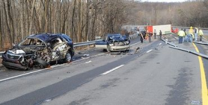 18 wheeler fatal 3 car accident, 2011