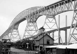 Rainbow bridge at Port Arthur in East Texas