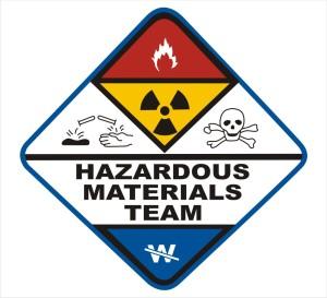 Hazardous Materials Crew Cleaning Up Toxic Spills from 18-wheeler wrecks