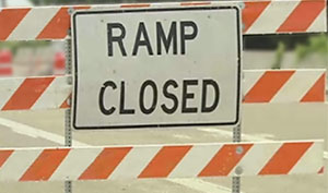 Exit Ramp Closed to 18-wheeler Accident