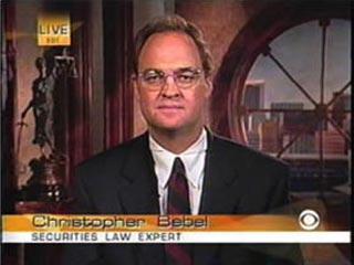 Chris Bebel, Securities Law expert on CBS